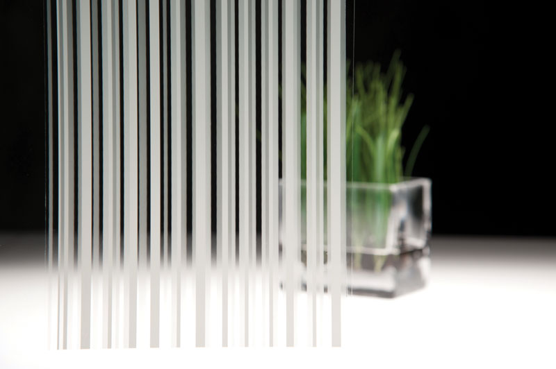 Fasara Stripe And Line Patterns Fasara Glass Finishes